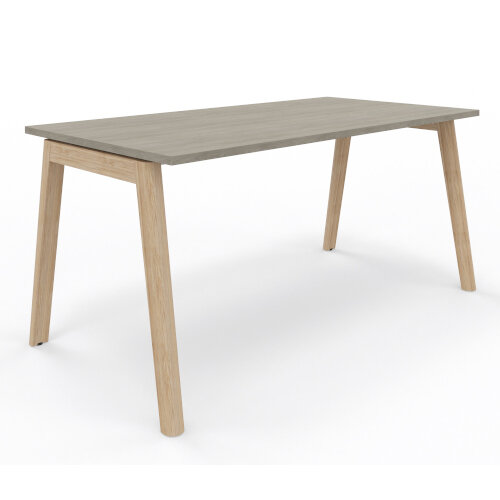 Nova Wood Home Office Desk Grey Desktop & Solid Ash Legs W1200xD700mm Additional Image 3