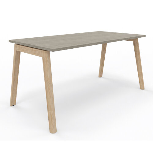 Nova Wood Home Office Desk Grey Desktop & Solid Ash Legs W1200xD700mm Additional Image 2