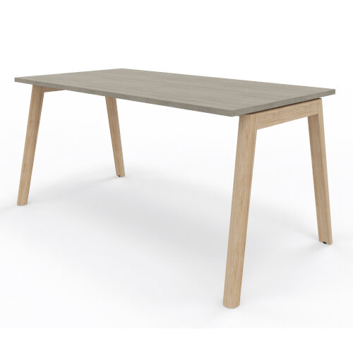 Nova Wood Home Office Desk Grey Desktop & Solid Ash Legs W1200xD700mm Additional Image 4
