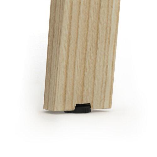 Nova Wood Home Office Desk Grey Desktop & Solid Ash Legs W1200xD700mm Additional Image 5