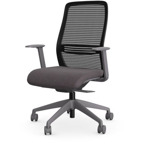 NV Posture Office Chair with Contoured Mesh Back and Adjustable Lumbar Support Grey Frame Grey Seat Additional Image 1