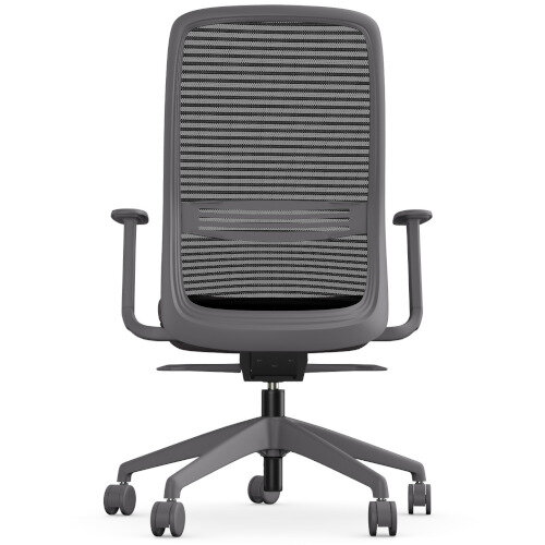 NV Posture Office Chair with Contoured Mesh Back and Adjustable Lumbar Support Grey Frame Grey Seat Additional Image 3