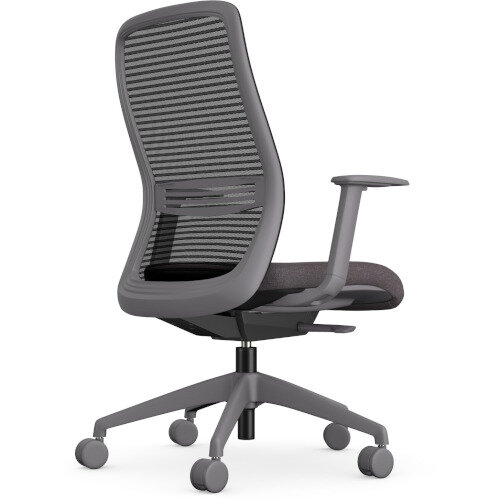 NV Posture Office Chair with Contoured Mesh Back and Adjustable Lumbar Support Grey Frame Grey Seat Additional Image 2