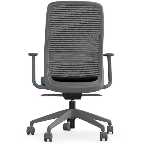 NV Posture Office Chair with Contoured Mesh Back and Adjustable Lumbar Support Grey Frame Light Blue Seat Additional Image 3