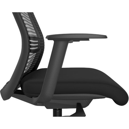 NV Posture Office Chair with Contoured Mesh Back and Adjustable Lumbar Support & Headrest Black Additional Image 8