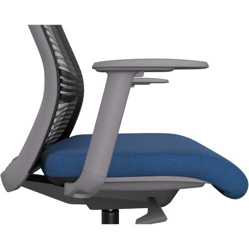 NV Posture Office Chair with Contoured Mesh Back and Adjustable Lumbar Support Grey Frame Navy Blue Seat Additional Image 5
