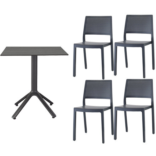 Emi Dining Set Anthracite - Suitable For Indoor & Outdoor Use Additional Image 1