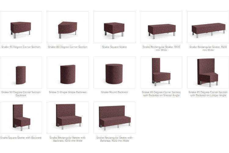 SNAKE Modular Soft Seating Range Modules