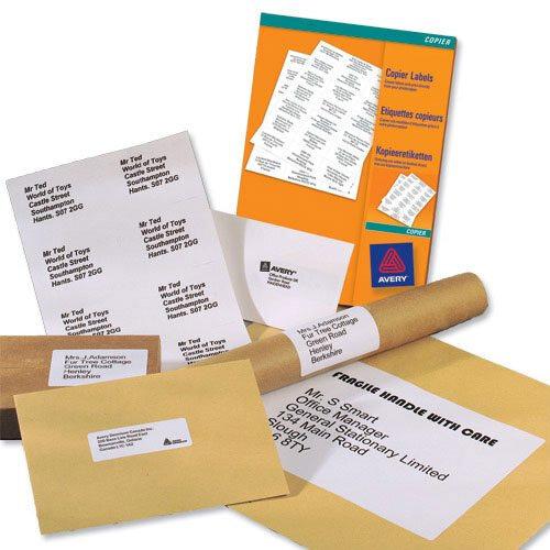 Avery 3475 Labels 24 Per Sheet Copier 70x36mm 2400 Labels