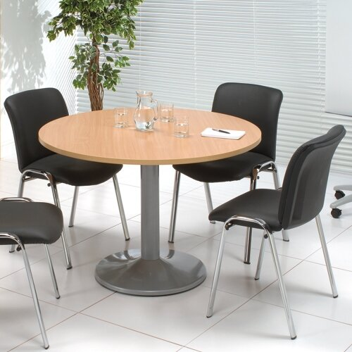 Kito Beech Meeting Room Round Table, Round Meeting Room Tables