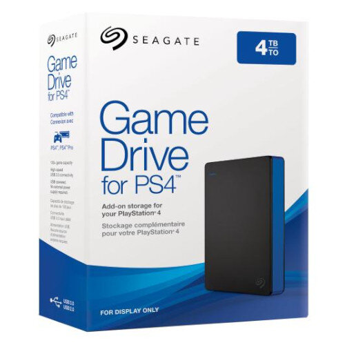Seagate Game Drive Stgd4000400 4 Tb Portable Hard Drive Playstation4 Compatible Ps4 External Black Blue Gaming Console Device Supported Usb 3 0 Colour Black And Blue At Hunt Office Ireland