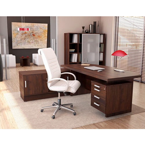 Grand Executive Office Desk With Right Side Drawers