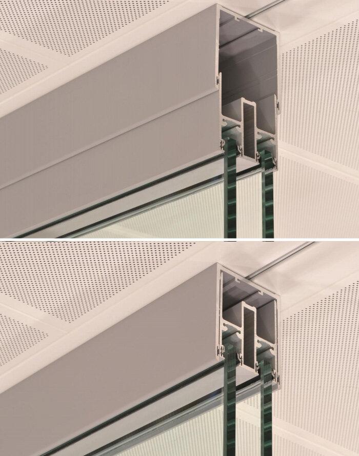Sas System 8000i Double Glazed Frameless Partitioning