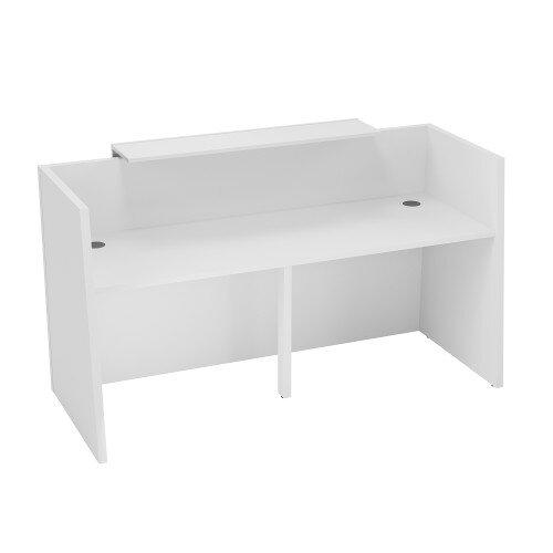 sove minimalist design straight reception desk w1900mm white with