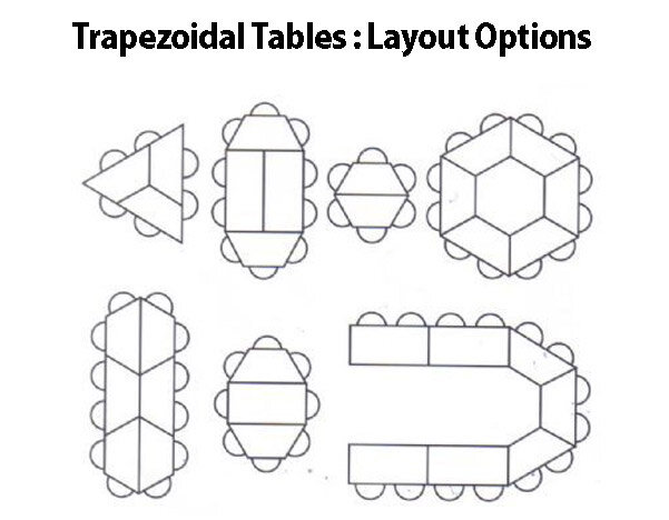 Trexus Meeting Conference Training Tables HuntOfficeie - Conference table layout