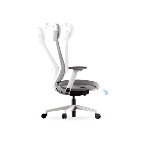 X 22 Posture Office Chair With Unique Mesh Back And Adjustable Lumbar Support White Huntoffice Ireland
