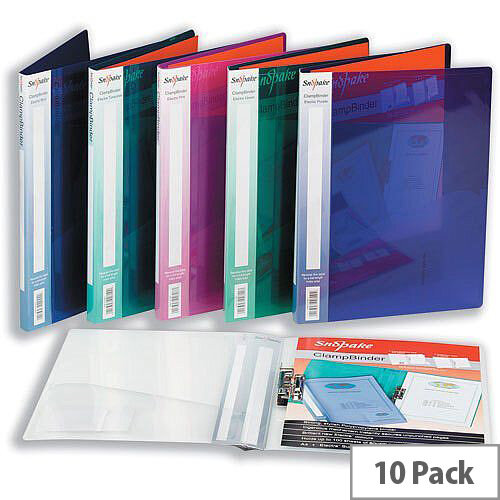 Snopake Electra Clamp Binder A4 Polypropylene for 100 Sheets 80gsm Clear 12772 Pack 10