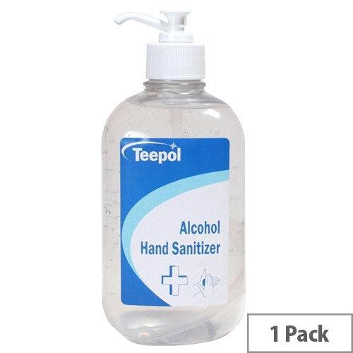 Teepol - Fully Approved Ethanol Based Hand Sanitiser Gel 500ml PCS 97238 Single