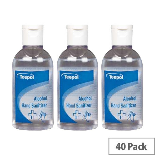 Teepol - Fully Approved Ethanol Based Hand Sanitizer 50ml PCS 97238 Case of 40