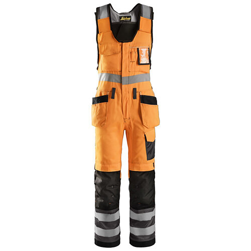"Snickers 0213 High-Vis One-piece Holster Pocket Trousers Class 2 Size 88 31""/5'4"" Hi-Vis Orange/Black"