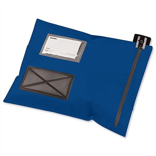 Mailing Pouch Durable 355x381mm Blue PVC Coated Nylon Versapak