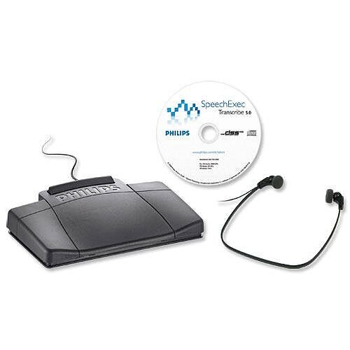 Philips Transcription Kit Software Headset 234 Foot Control 210 Web Licence Ref LFH7177