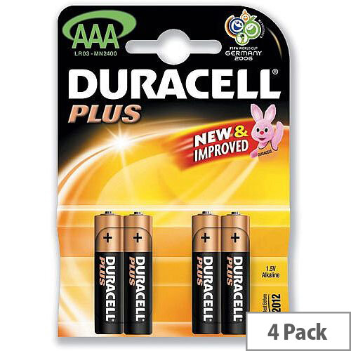 Duracell Plus Power Battery Alkaline AAA Size 1.5 Volts - Long-Lasting Battery That Just Keeps Performing. Ideal For Everyday Use