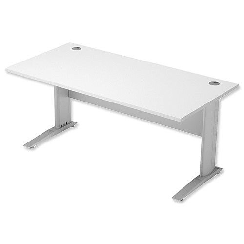 Cantilever Office Desk Rectangular W1600xD800xH725mm White Komo