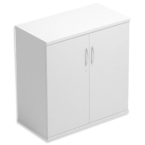 Low Cupboard with Lockable Doors W800xD420xH770mm White Kito