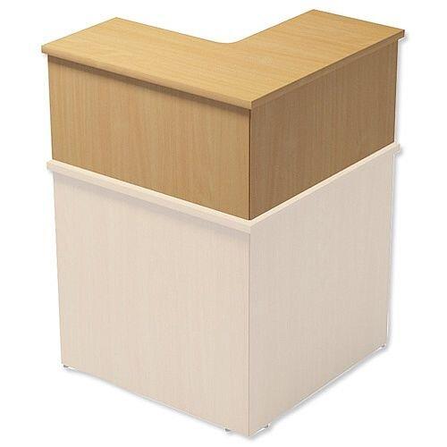 Reception Cube Corner Desk Riser W800xD300xH370mm Beech Ashford