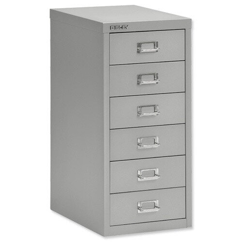 Bisley SoHo Multidrawer Cabinet 6-Drawer H590mm Silver