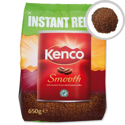 Kenco Smooth Freeze Dried Instant Coffee Eco Refill Bag 650g Pack of 1 924778