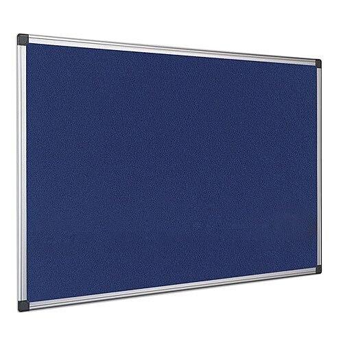 Bi-Office Notice Board Fire Retardant Fabric Alumimium Frame 1200 x 900mm Blue Ref SA0501170