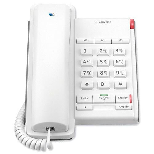 BT Converse 2100 Telephone Wall Mountable White Ref 40205