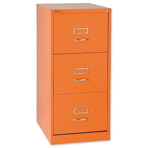 Bisley GLO 3-Drawer Filing Cabinet Orange Ref BS3C