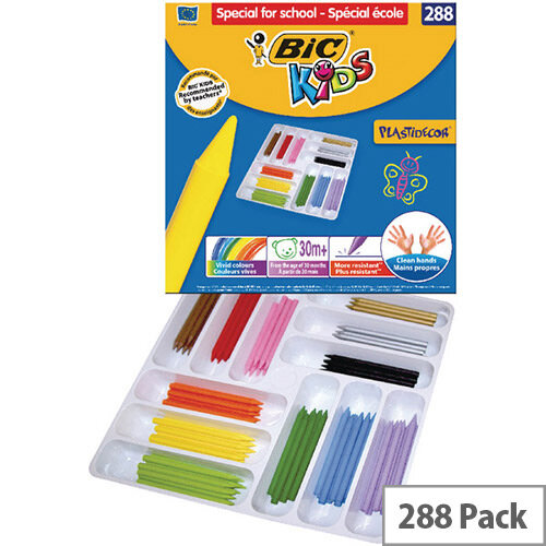 Bic Kids Plastidecor Colouring Crayons Class Pack of 288