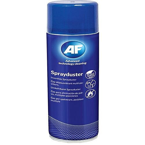 AF Sprayduster Non Flammable Computer Air Duster Spray 200ml Can - Use on all printers, keyboards and other office equipment - Liquid-free design for equipment safety