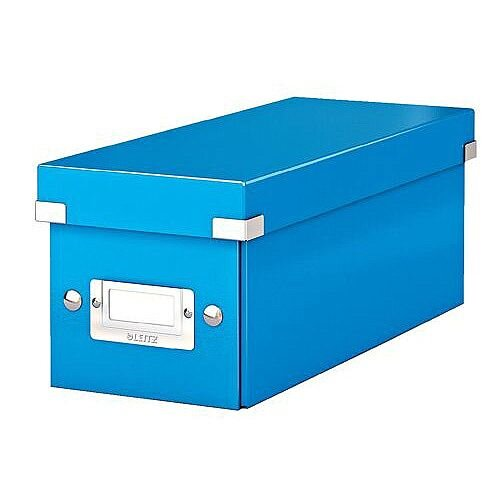 Leitz WOW Click and Store CD Box Blue Ref 60410036