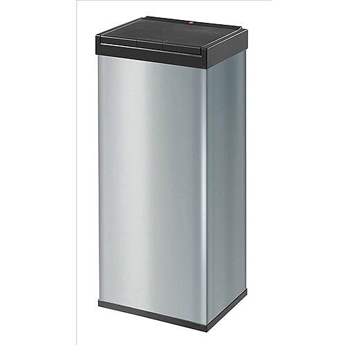 Hailo Big-Box Touch 60 Steel Coated Waste Bin 60 Litres  Silver
