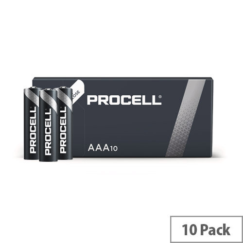 Duracell Industrial Battery Alkaline 1.5V AAA Ref 5007617 Pack 10