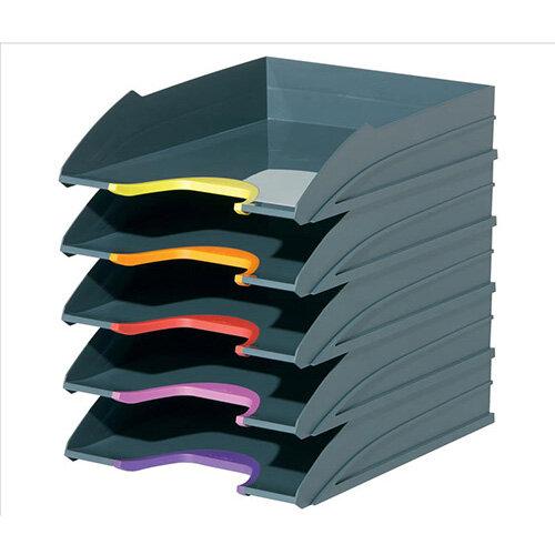 Durable VARICOLOR Desktop Letter Tray Set  Set of 5
