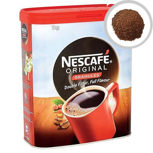 Nescafe Original Instant Coffee Granules Tin 1kg Ref 12284049