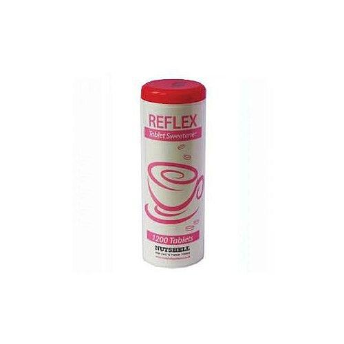 Reflex Sweetener Dispenser of 1200 White Tablets Pack 1 (1200 Tablets in Total)