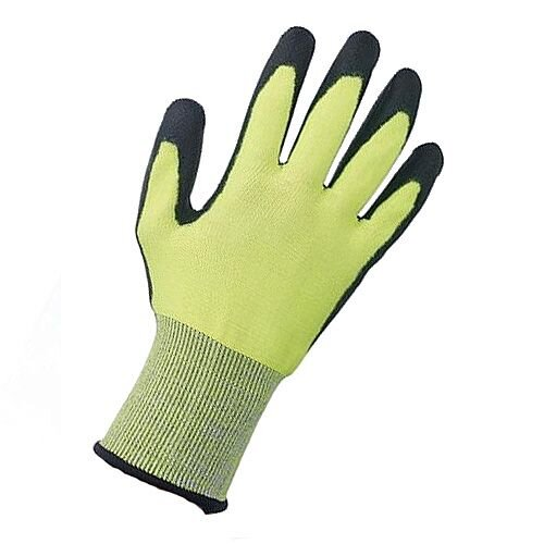 Keepsafe Safety Gloves PU Coated Green/Black Size 8 S/M-Men or L-Women Pack 1 Ref 303620080