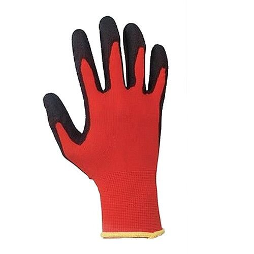 Keepsafe Safety Gloves Light-duty Level 1 PU Coated Red/Black Size 9 M/L-Men or XXL-Women Pack 1