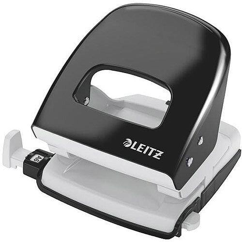 Leitz NeXXt Series WOW Metal Office Hole Punch 3mm 30 Sheet  Black