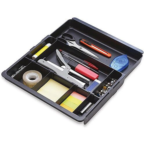 Exacompta Sliding Part Drawer Organizer Insert Black
