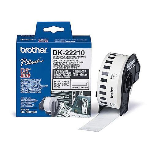 Brother P-touch DK-22210 (29mm x 30.5m) Continuous Paper Labelling Tape