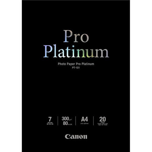 Canon A4 Glossy Pro Platinum Photo Paper 300gsm (Pack of 20)