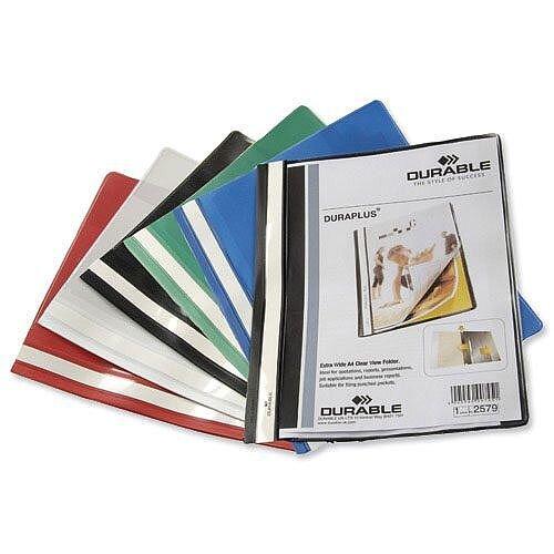 Duraplus Quotation Filing Folder PVC A4 Black Pack 25